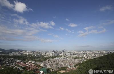 [사진] 푸르른 서울의 하늘... 미세먼지 농도 '좋음'