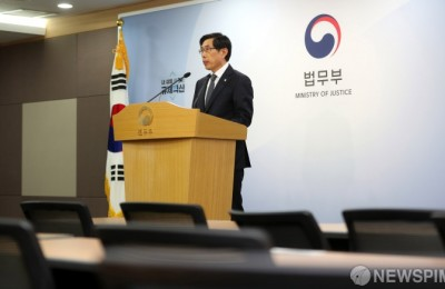 '과거사위 입장발표' 질문 거부 박상기 장관…기자회견 '보이콧'