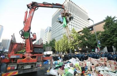 서울시, '애국당 천막' 46일만에 철거 배경은
