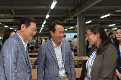 이용섭 조직위원장, '국·내외 미디어 웰컴행사' 개최