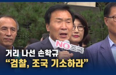 """[영상] 거리 나선 손학규 """"윤석열 총장은 조국 장관 기소하라"""""""