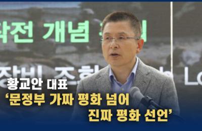 [영상] 황교안 '문정부 가짜 평화 넘어 진짜 평화 선언'