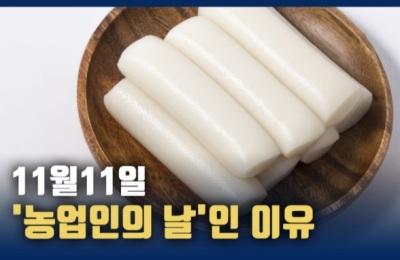 [영상] 11월 11일, '가래떡데이·농업인의 날'인 이유