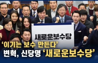 유승민 변혁, 신당명 '새로운보수당'