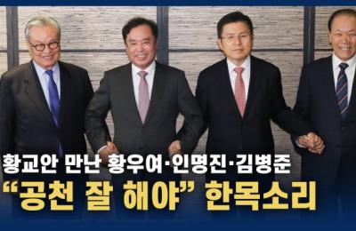 """한국당 전 당대표들 황교안 만나 한 목소리 """"공천 잘 해야"""""""