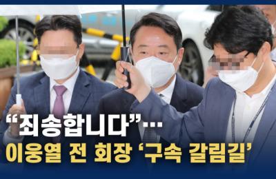 '인보사 의혹' 이웅열 전 코오롱 회장 '구속 갈림길'