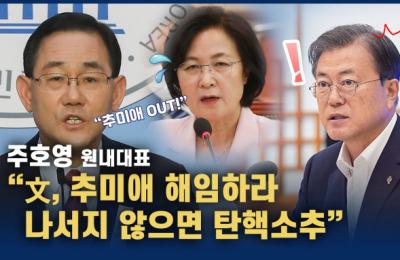 """주호영 """"文, 추미애 해임하라"""""""