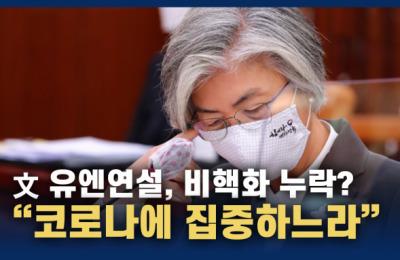 [영상] 강경화, 文 유엔연설 '비핵화 누락' 지적에
