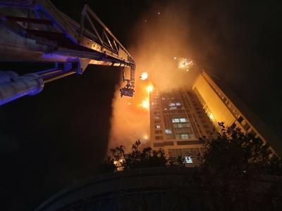 울산 주상복합건물 화재 첫 발화지점은 3층 '야외 테라스'