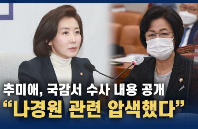 추미애, 국감서 나경원 수사 내용 공개