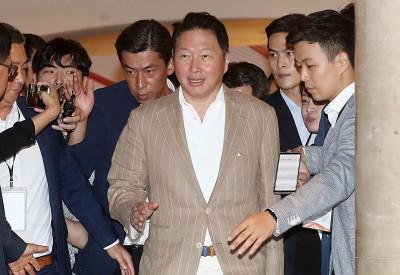 SK이천포럼 참석하는 최태원 회장