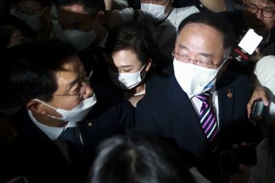 부동산 대책 회의 마친 홍남기-김현미 -조정식